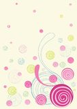 Colorful floral doodles Stock Photography