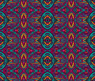 Colorful floral ethnic seamless pattern ornament. Tribal Mexican vintage ethnic seamless pattern. colorful grunge  tribal design Royalty Free Stock Photography