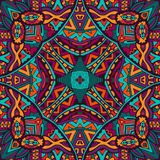 Colorful floral  ethnic tribal pattern. Abstract folk ethnic colorful seamless pattern ornament Stock Photo