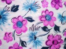 Colorful floral fabric texture Royalty Free Stock Image
