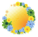 Colorful floral frame Royalty Free Stock Images