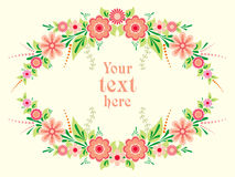 Colorful floral frame Stock Image