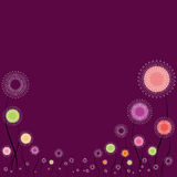 Colorful floral frame background. An illustration colorful floral frame background Stock Photos