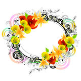Colorful floral frame Royalty Free Stock Photography