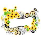 Colorful floral frame Stock Images