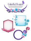 Colorful floral frames Royalty Free Stock Photography