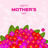 Colorful Floral Greeting card - International Happy Mothers Day Royalty Free Stock Images