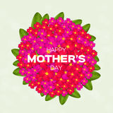 Colorful Floral Greeting card - International Happy Mothers Day Royalty Free Stock Photos