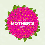 Colorful Floral Greeting card - International Happy Mothers Day Stock Photos