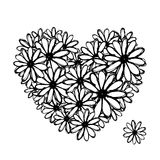 Colorful Floral Heart For Your Design Royalty Free Stock Photography