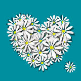 Colorful floral heart for your design Royalty Free Stock Photo