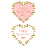 Colorful floral hearts,  illustration. Colorful floral heart,  illustration Royalty Free Stock Image