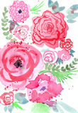 Colorful  floral illustration Stock Photos