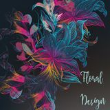 Colorful floral illustration Stock Photography