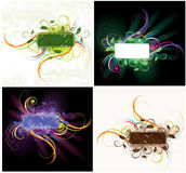 Colorful floral label set Royalty Free Stock Photo