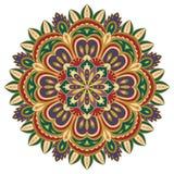 Colorful floral mandala. Royalty Free Stock Images