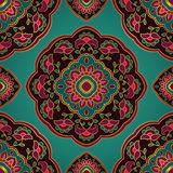 Colorful floral ornament. stock illustration