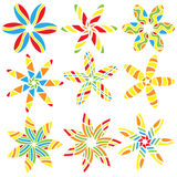 Colorful floral ornaments Royalty Free Stock Image