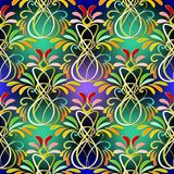 Colorful floral paisley vector seamless pattern. Stock Photos
