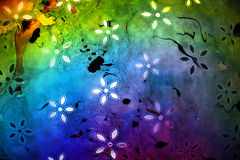 Colorful Floral Paper Royalty Free Stock Photography