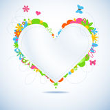 Colorful floral paper heart Royalty Free Stock Photos