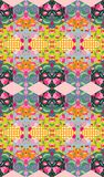Colorful floral patchwork. Seamless quilting design. Vector illustration Stock Photo