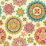 Colorful Floral Pattern. Illustration of colorful floral pattern in retro style Royalty Free Stock Photos