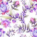 Colorful floral pattern. Bright flowers wallpaper Stock Images