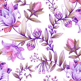 Colorful floral pattern. Bright flowers wallpaper Royalty Free Stock Photography