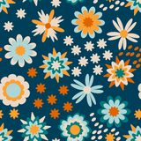 Colorful floral pattern for kids vector illustration
