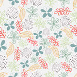 Colorful floral pattern for Nature. Colorful florals and leaves decorated pattern for Nature concept Stock Image