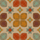 Colorful floral pattern. Pattern with ornamental colorful decorative flowers Stock Image