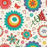 Colorful floral pattern Stock Images