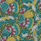 Colorful floral pattern,  seamless background Royalty Free Stock Photos