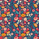 Colorful floral pattern. Seamless pattern Stock Photography
