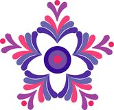 Colorful floral retro desigh  Royalty Free Stock Photos