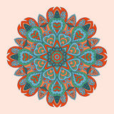 Colorful floral round ornament. Ethnic motives Stock Images