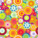 Colorful floral seamless background Royalty Free Stock Photo