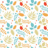 Colorful floral seamless pattern royalty free illustration