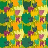 Colorful floral  seamless pattern. This is file of EPS8 format Royalty Free Stock Photo