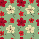 Colorful floral seamless pattern background illustration Stock Images