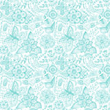 Colorful floral seamless pattern in cartoon style. Seamless pattern can be used for wallpaper, pattern fills, web page background vector illustration