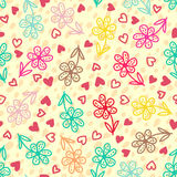 Colorful floral seamless pattern Stock Images