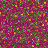 Colorful floral seamless pattern. Hand drawing vector illustration Royalty Free Stock Photo