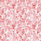 Colorful floral seamless pattern with leaves and Royalty Free Stock Photography