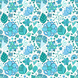 Colorful floral seamless pattern with leaves and Stock Photo