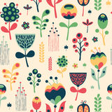 Colorful floral seamless pattern on light background. Colors Cult. Colorful seamless pattern Stock Photography