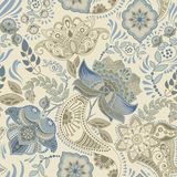 Colorful floral seamless pattern. Paisley ornament. Decorative flowers. Design for fabrics, cards, web, decoupage Royalty Free Stock Photo