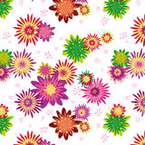 Colorful floral seamless pattern wallpaper Royalty Free Stock Image