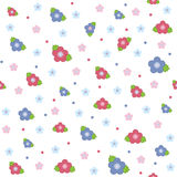 Colorful floral seamless pattern. On white background Royalty Free Stock Photography
